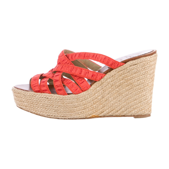 ebb78ee77371 Christian Louboutin Shoes - Christian Louboutin Crepon Espadrille Wedges 38
